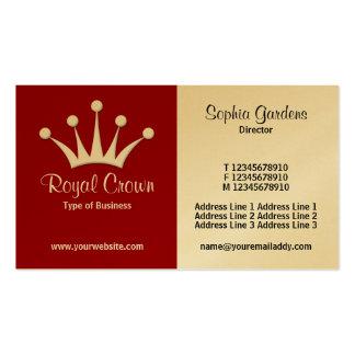 Mitad y medio (corona) - marrón (oro) tarjetas de visita