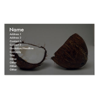 Mitades deliciosas del coco tarjetas de visita