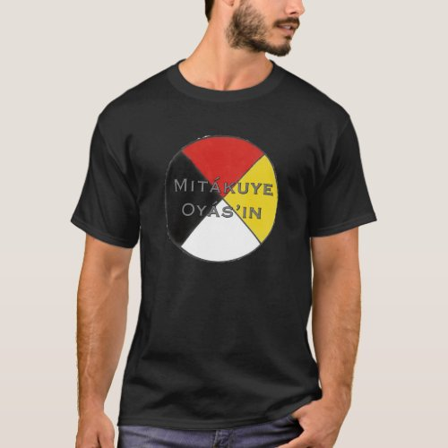 Mitakuye Oyasin Mens Dark Colors Lakota T_Shirt