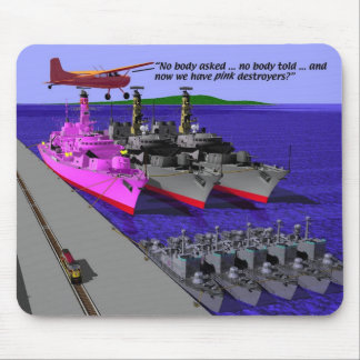 Mitary- Navy - Pink Destroyer, V4 Mouse Pad