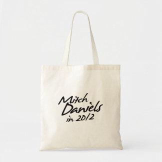 MITCH DANIELS 2012 Autograph Budget Tote Bag