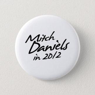 MITCH DANIELS 2012 Autograph Pinback Button