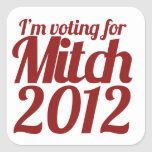 Mitch Daniels 2012 Pegatina Cuadrada