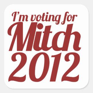 Mitch Daniels 2012 Square Sticker