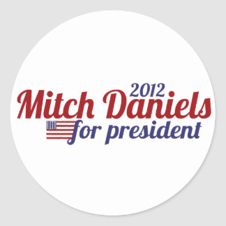 Mitch Daniels for President 2012 Classic Round Sticker