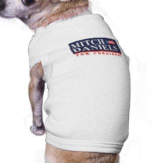 MITCH DANIELS FOR PRESIDENT (Banner) Dog T-shirt