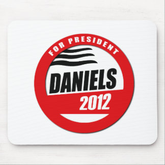 MITCH DANIELS FOR PRESIDENT BUTTON MOUSE PAD