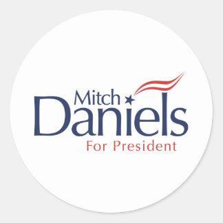 Mitch Daniels for President Classic Round Sticker