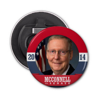 MITCH MCCONNELL 2014 BUTTON BOTTLE OPENER