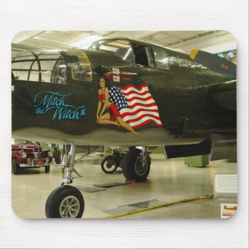 Mitch Witch WWII Aircraft Mouse Pad