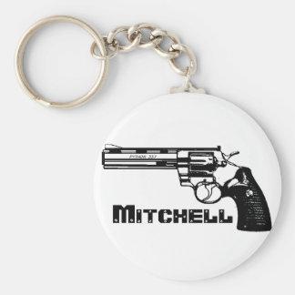 Mitchell! Basic Round Button Keychain