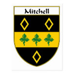 Mitchell Coat of Arms/Family Crest Postcard