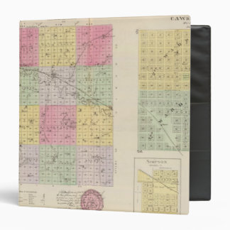 Mitchell County, Cawker City, Simpson, Kansas 3 Ring Binder