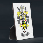"""Mitchell Family Crest Coat of Arms Plaque<br><div class=""""desc"""">Mitchell family crest and Scottish Mitchell coat of arms. For men with the Mitchell surname,  and for women with the Mitchell last name. Click &#39;Mitchell Family Crest&#39; to see all our designs featuring the Mitchell family name.</div>"""