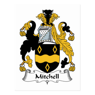 Mitchell Family Crest Postcard