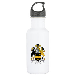 Mitchell Family Crest Stainless Steel Water Bottle