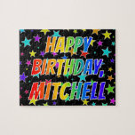 "[ Thumbnail: ""Mitchell"" First Name, Fun ""Happy Birthday"" Jigsaw Puzzle ]"