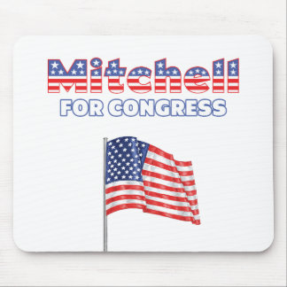 Mitchell for Congress Patriotic American Flag Desi Mouse Pad