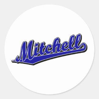 Mitchell in Blue Classic Round Sticker