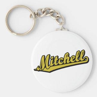 Mitchell in Gold Keychain