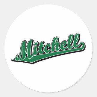 Mitchell in Green Classic Round Sticker