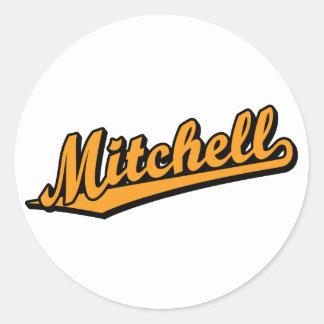 Mitchell in Orange Classic Round Sticker