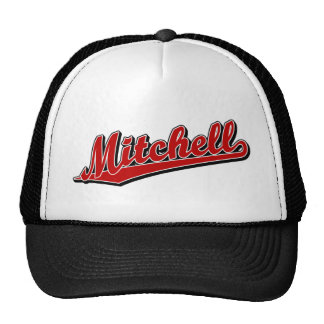 Mitchell in Red Mesh Hats