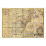 Mitchell Map British & French Owned Areas in 1757 Posters