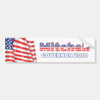 Mitchell Patriotic American Flag 2010 Elections Car Bumper Sticker