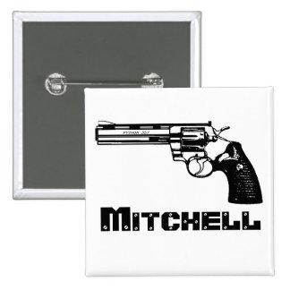 ¡Mitchell! Pin Cuadrado