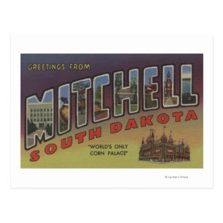 Mitchell, South Dakota - Large Letter Scenes Postcard