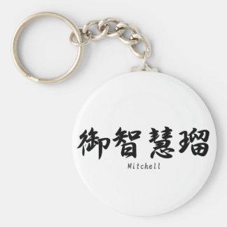 Mitchell tradujo a símbolos japoneses del kanji llaveros