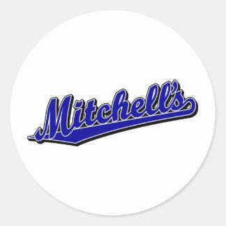 Mitchell's in Blue Classic Round Sticker