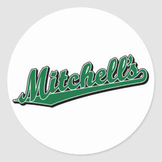 Mitchell's in Green Classic Round Sticker