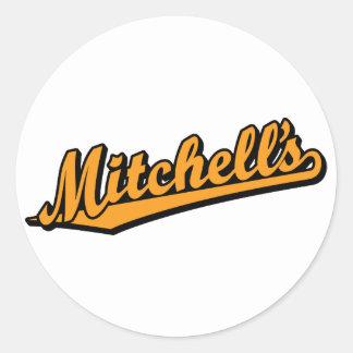 Mitchell's in Orange Classic Round Sticker