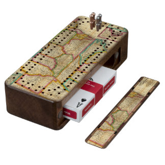 Mitchell's Travellers Guide Wood Cribbage Board