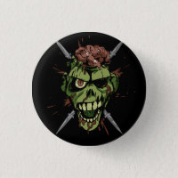 mitch's zombie graphic pinback button