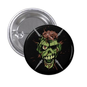 smokeplanet mitch's zombie graphic pinback button
