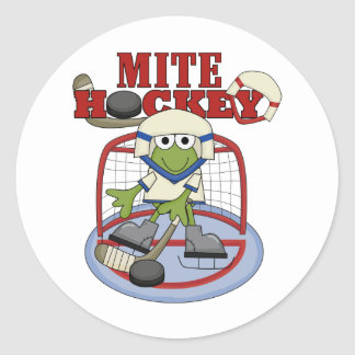 Mite Hockey Goalie Tshirts and Gifts Classic Round Sticker