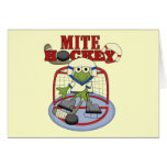 Mite Hockey Goalie Tshirts and Gifts Greeting Card