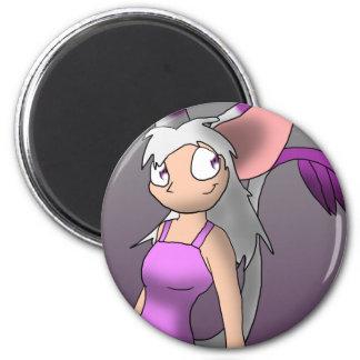 Miteigikemonomimi Girl Magnet 2 Inch Round Magnet