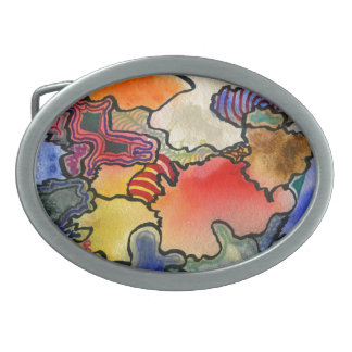 """""""Mites and Tites"""" Abstract Design Belt Buckle"""