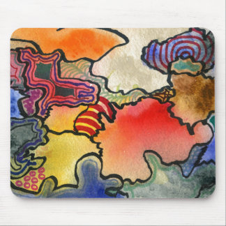 """""""Mites and Tites"""" Abstract Design Mousepad"""