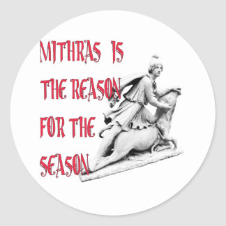 Mithras es la razón de la estación pegatina redonda