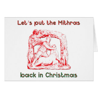 Mithras holiday design cards