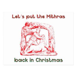 Mithras holiday design postcard