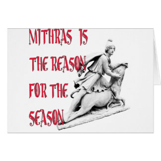 Mithras is the Reason for the Season Greeting Cards