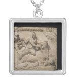Mithras que sacrifica la Bull, 2do-3ro siglo Colgante Cuadrado