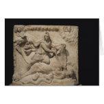 Mithras que sacrifica la Bull, 2do-3ro siglo Tarjeta De Felicitación