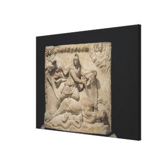 Mithras Sacrificing the Bull, 2nd-3rd century Canvas Print